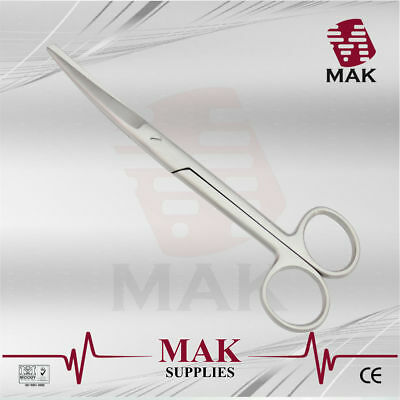 M@K Operating, Dissecting Scissor Sharp/Blunt 17.5cm Curved Cut Tougher Tissues
