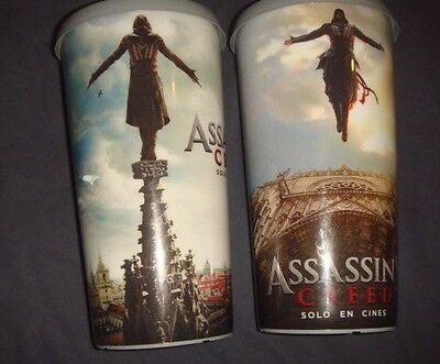 Assassin's Creed Mexico set of 2 Movie Theater Cups Cinemex
