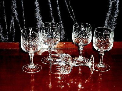 Beautiful Vintage Hand Cut Crystal  Sherry Glasses  England