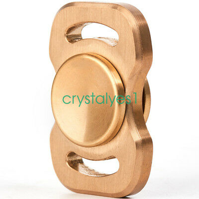 Fidget Spinner Toy Brass Hand Spinner DIY Puzzels for ADHD Autism HS05 C AU