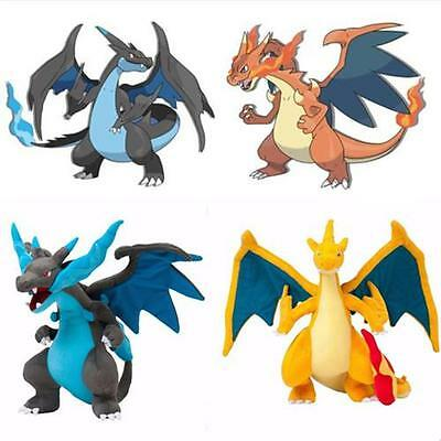 "9.5"" Pokemon XY Mega Charizard Dracaufeu Glurak Plush Toy Pocket Monster peluche"