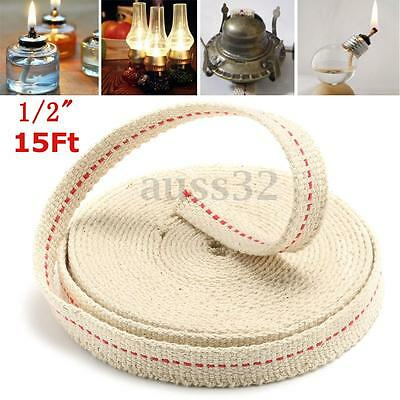 1/2'' 15ft Feet White Flat Cotton Alcohol Wick For Glass Oil Lamps and Lanterns