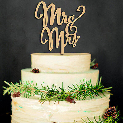 NEW Acrylic Mr Mrs Engagement Wedding Proposal Love Party Cake Topper Decoration