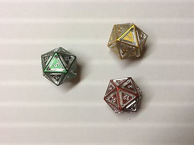 W20, D20, Metal, Floating, Sly Kly Design, Dungeons & Dragons