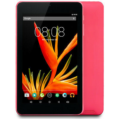 7 pollici Android 5.1 Quad Core Tablet PC 16GB Dual Camera WIFI Bluetooth Rosa
