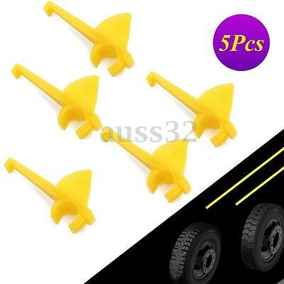 5pcs Yellow Car Auto Nylon Tire Changer Machine Mount Demount Head Inserts