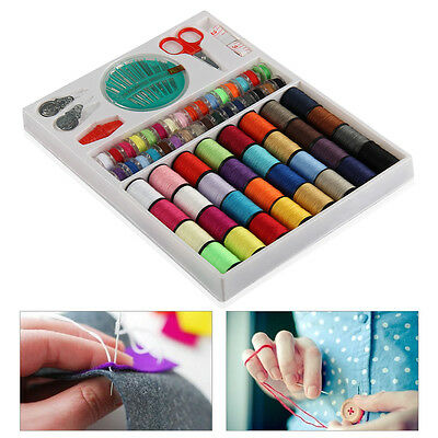 100 x Sewing Pack Kit Thread Needle Tape Measure Threader Thimble Storage