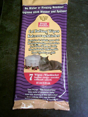 Simple Solution Cat Bath Wipes - Large 23cm x 23cm
