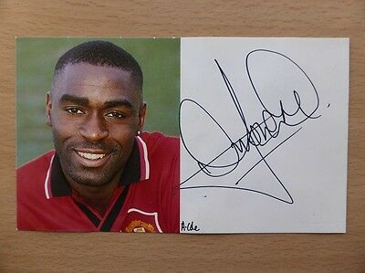 1994-96 Andy Cole Signed Man Utd Club Card (5456)