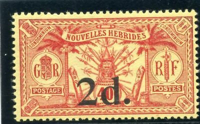 New Hebrides 1920 KGV 2d on 40c red/yellow superb MNH. SG 35. Sc 31.