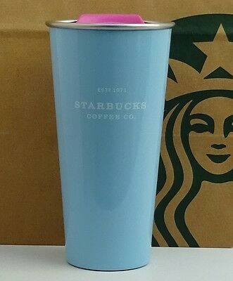 Starbucks Tumbler Stainless Steel To Go Pop Love Blue Special Edition 16oz NEW