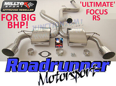 """Milltek Focus RS MK2 3"""" ULTIMATE Exhaust System Cat Back Non Res - For BIG BHP!"""
