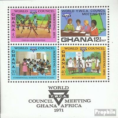 Ghana Block43 (complete.issue.) unmounted mint / never hinged 1971 YMCA