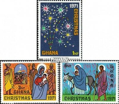 Ghana 443A-445A (complete.issue.) unmounted mint / never hinged 1971 christmas