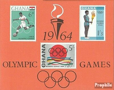 Ghana block12 (complete.issue.) unmounted mint / never hinged 1964 Olympia