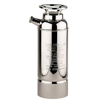 NEW Large Silver plated 1920s style Fire Extinguisher Cocktail Shaker