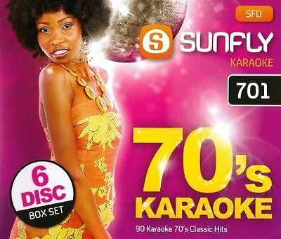 Sunfly Karaoke 701 Decades Pack 70's 6 Disc Pack Set CD + G New Sealed