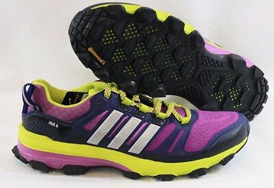 06aa967a1193e NEW Womens Sz 7 ADIDAS Supernova Riot 6 B39864 Purple Lime Sneakers Shoes
