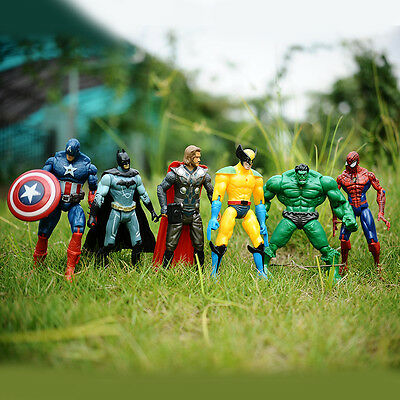 6pcs Marvel The Avengers Superheld Spiderman Figur Kinder Kinder Spielzeug