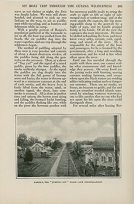1917 Magazine Article Exploring British Guiana via Canoe Guyana South America