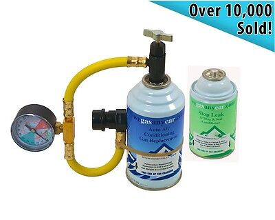 Universal Air Con Gas Top Up & Leak Stopper Tool Kit for Aixam cars