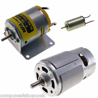 DC Brushed Motor for RC Models with / without Mounting Bracket - All Sizes
