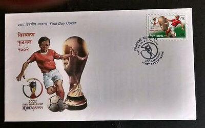 098.nepal 2002 Stamp Fifa World Cup Football Fdc.