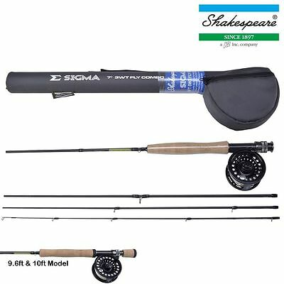 Shakespeare Sigma Fly Fishing Rod Combos With Reel Line And Hard Travel Tube