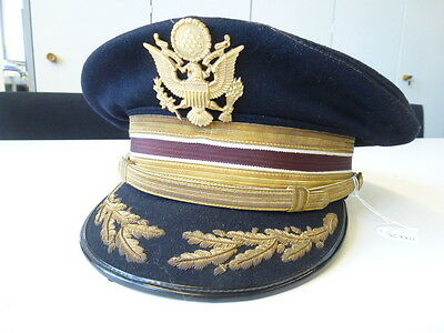US after WWII, high rank Visor hat, German production for a Soldier stationed in
