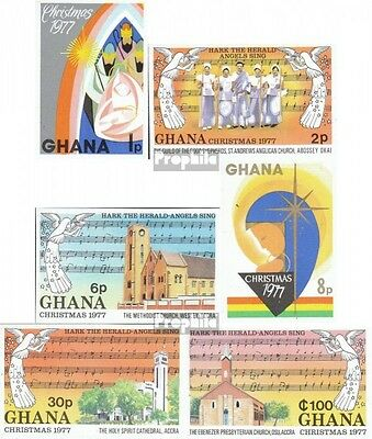 Ghana 718B-723B (complete.issue.) unmounted mint / never hinged 1977 christmas