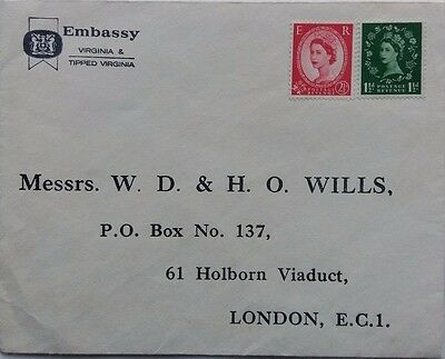 Great Britain 1952 Wills Tobacco Embassy Cigarettes Advert Cover
