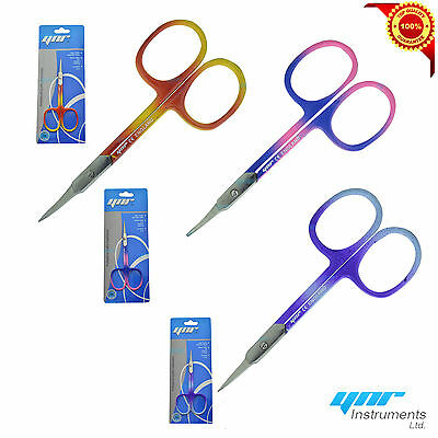 YNR® Super Sharp Curved Edge Cuticle Nail Scissors Arrow Point Multi Colour New