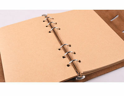 Notebook Inner Loose Leaf Paper 80 Blank Rule Ring Binder Diariy Kraft A5 A6 A7