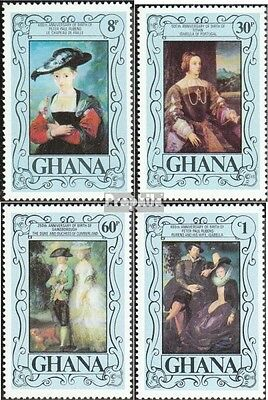 Ghana 710A-713A (complete.issue.) unmounted mint / never hinged 1977 Painters