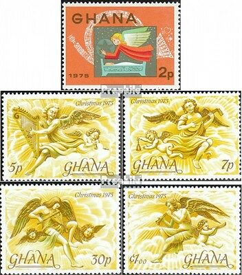 Ghana 621A-625A (complete.issue.) unmounted mint / never hinged 1975 christmas