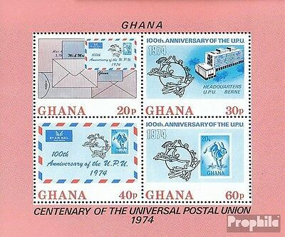 Ghana Block55A (complete.issue.) unmounted mint / never hinged 1974 UPU