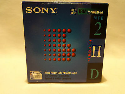 SONY Floppy Disks 3.5 Micro 10 Pack Double Sided New Floppys10MFD-2HDcf, 1.44MB
