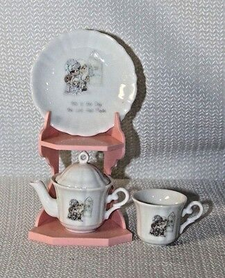 Cute Enesco Precious Moments 1989 Mini Tea Set This Is The Day The Lord Has Made