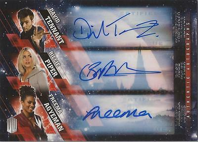 "Doctor Who Timeless - Triple Autograph Card ""Tenth Doctor, Rose & Martha"""