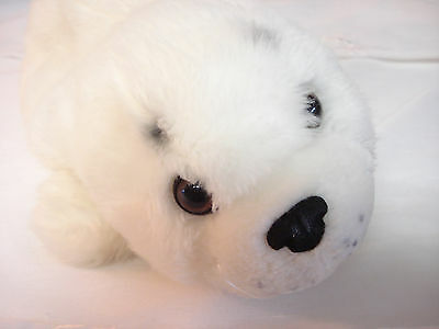 Wildlife Artists Inc 2004 Snow White Stuffed Plush SEAL PUP Clean & Cuddly