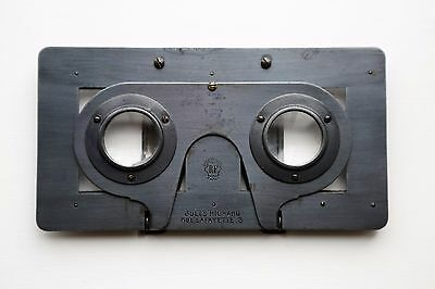 'jules Richard' Verascope Stereoscopic Metal Viewer, With Original Case.