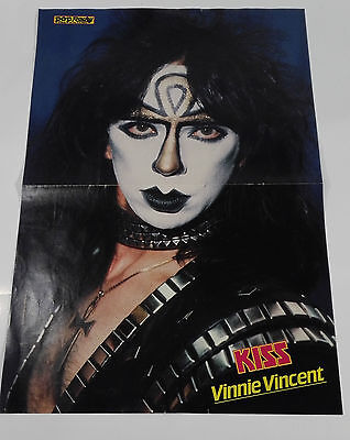 Kiss Vinny Vincent Pop Rocky Poster 80s 80er Simmons Stanley Carr Frehley RARE