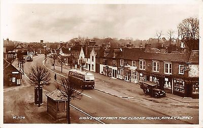 POSTCARD   SURREY    RIPLEY  High St  from the Clocke  House       RP
