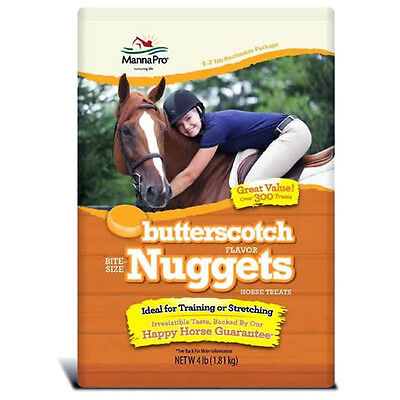 Manna Pro Horse Tasty Bite Size Nuggets & Wafers Butterscotch Flavour 4Lbs