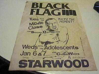 Black Flag  Middle Class Social Distortion Starwood