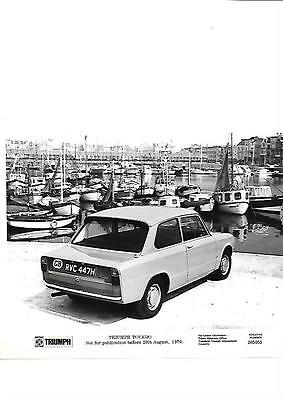 TRIUMPH TOLEDO PRESS PHOTO AUGUST 1970 'brochure related'