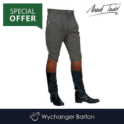 Mark Todd Mens Auckland Breeches (Charcoal) SPECIAL OFFER