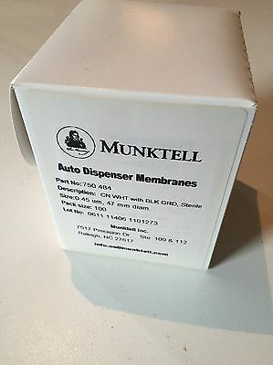 Munktell/Ahlstrom C.N. Membrane Filters 47mm, 0.45um, Cellulose Nitrate 100/Pk