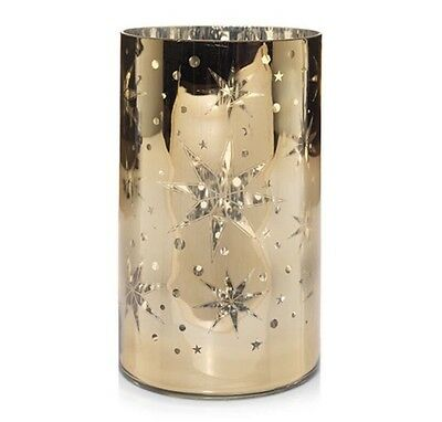 Yankee Candle Shimmering Star Gold Jar Candle Holder New Holiday 2016 Sold Out