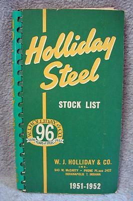 1951-1952 W.J. Holliday & Co. Steel Stock List Catalog Indianapolis Indiana